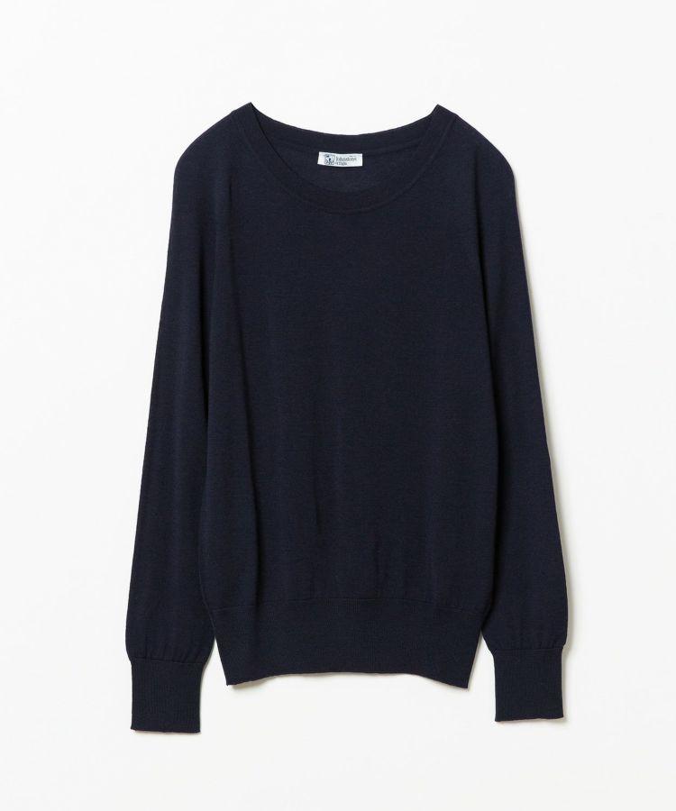 ジョンストンズ メリノウールバレーネックセーター