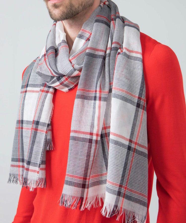 Merino Woven Scarf WD1093: RU6539 Red