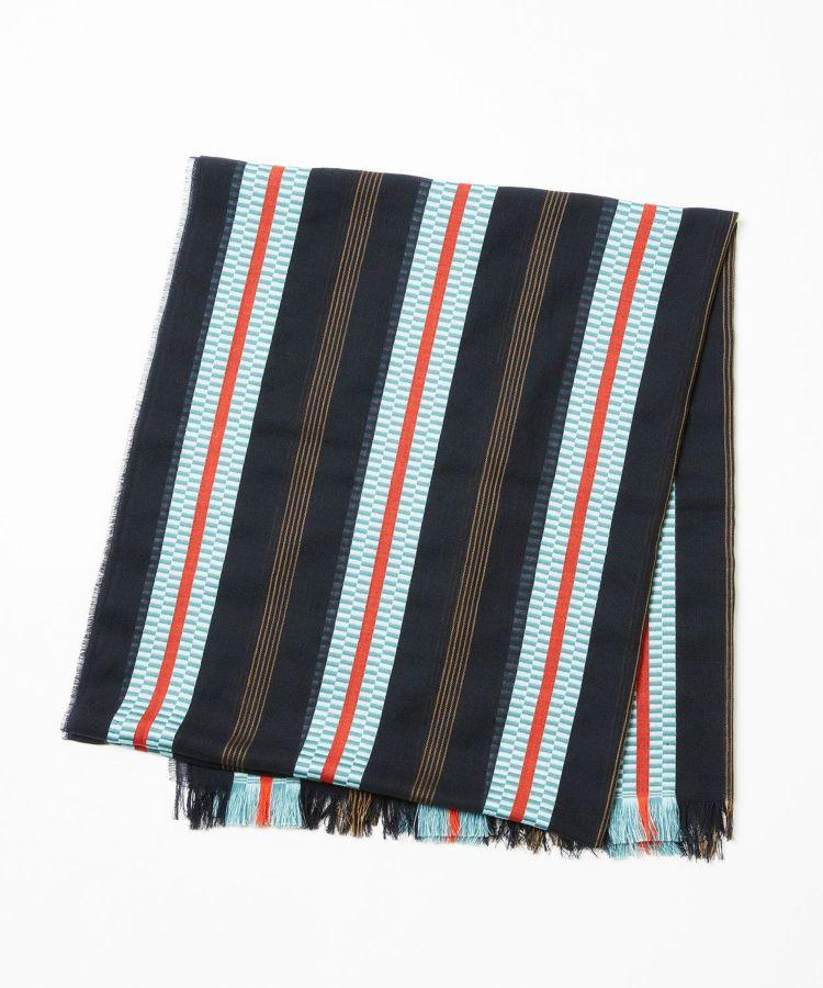 Pixelated Ribbon Scarf WD1635: RU6809 Navy